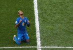 Neymar reacts at the end of the Brazil-Costa Rica match
