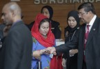 Datuk Seri Rosmah Mansor arrives at the Malaysian Anti-Corruption Commission (MACC) for questioning today.