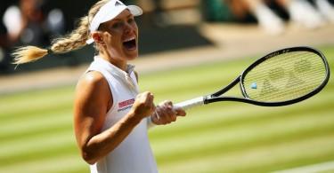 Kerber will play in her second Wimbledon final.