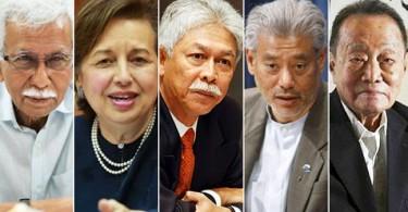 Members of Council of Eminent Persons : Tun Daim Zainuddin, Tan Sri Dr Zeti Akhtar Aziz, Tan Sri Hassan Marican , Professor Jomo Kwame Sundaram and Tan Sri Robert Kuok