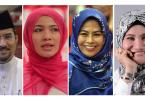 The new faces of Umno: (left) Khaidirah Abu Zahar (Supreme Council member), Datuk Dr Asyraf Wajdi Dusuki (Umno Youth chief), Datuk Zahida Zarik Khan (Umno Puteri chief), Datuk Dr. Noraini Ahmad (Umno Wanita chief), Suraya Yaakob (Supreme Council member), Shahril Hamdan (Umno Youth deputy chief).