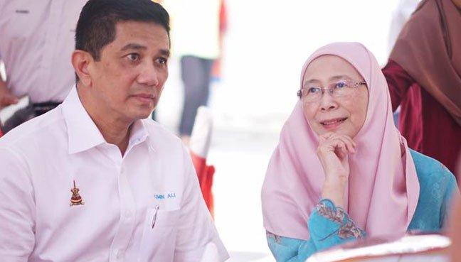 PKR president Datuk Seri Dr Wan Azizah Wan Ismail and her deputy Datuk Seri Mohamed Azmin Ali.