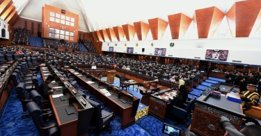 Rembau MP Khairy Jamaluddin and Kimanis MP Datuk Seri Anifah Aman are still seen in the Dewan Rakyat after the walkout.