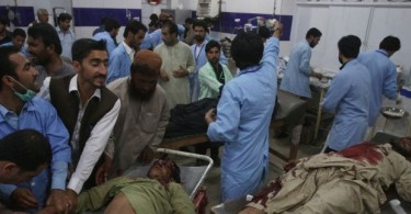 Victims of the suicide bombing at a hospital in Quetta.
