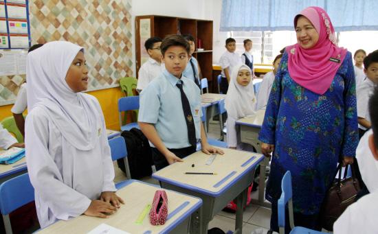 A classroom in Likas, Sabah.