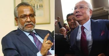 Shafee (left) and Najib.