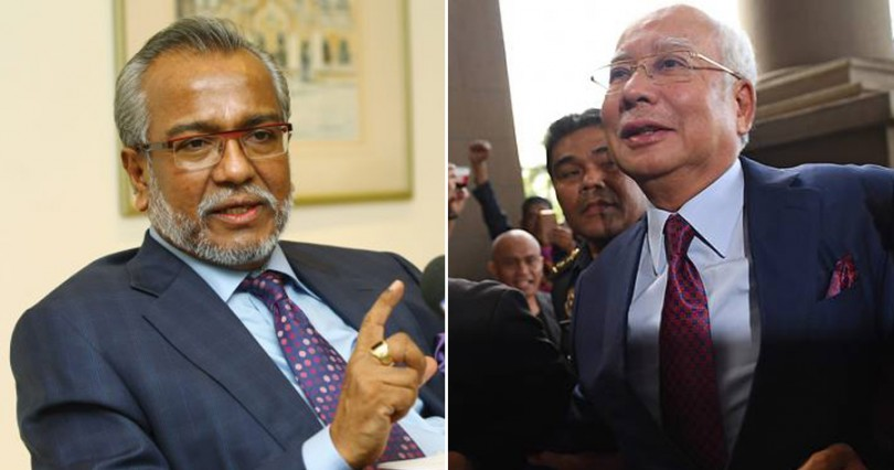 Shafee (left) and Najib.