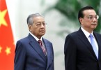 Mahathir (left) and Li.