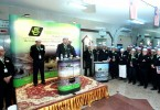 Datuk Seri Syed Saleh Abdul Rahman addressing Tabung Haji personnel at the gathering in Mecca today.