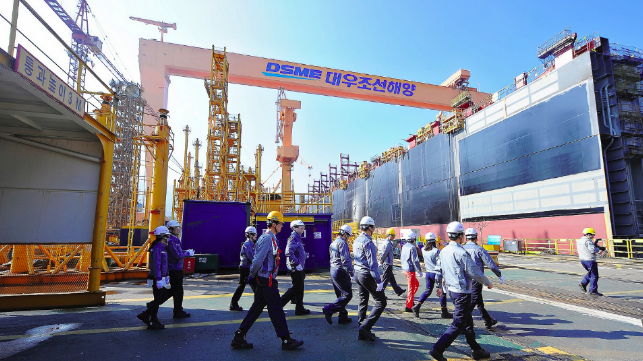 """South Korea government has designated five shipbuilding regions as """"industry crisis special areas,"""" namely Geoje, Jinhae, Mokpo, Tongyeong and Ulsan."""