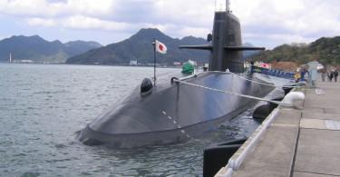 JS Kuroshio (SS-596) moored at Kitasui-Pier, Maizuru.