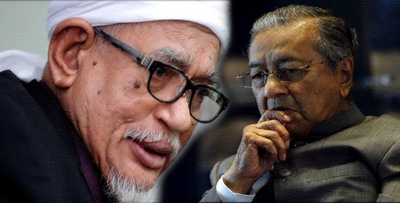 Datuk Seri Abdul Hadi Awang and Tun Dr Mahathir Mohamsd
