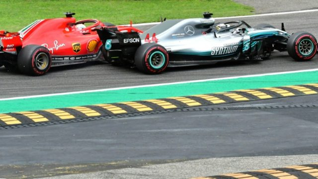 The Mercedes AMG Petronas driver and his Ferrari title rival Sebastian Vettel tangled at the fourth corner of the opening lap, with the German spinning around while the Briton sped off with an undamaged car.