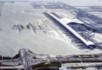 The flooded Kansai International Airport.