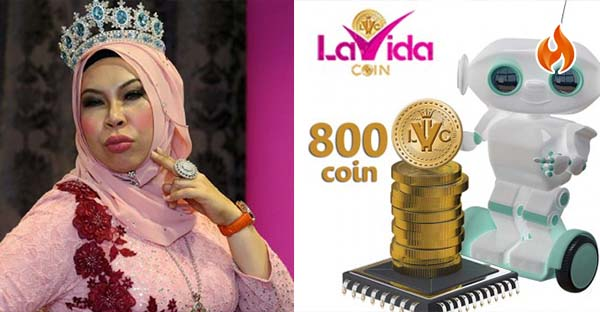 La Vida Coin was launched by cosmetic queen Datuk Seri Hasmizah Othman or affectionately known as Datuk Seri Vida.