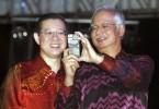 Former Prime Minister Datuk Seri Najib Razak and Finance Minister Lim Guan Eng during happier time.