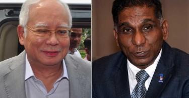 Najib (left) and Irwan Siregar