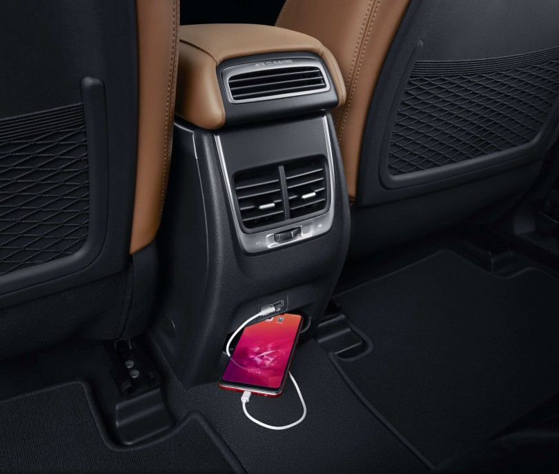 rear air cond vents and USB ports (6 total in the car)