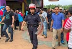 A Guan Ming Daily News photo shows that the Federal Reserve Unit, the riot control squad, had to be called in during the election in Kedah, which was subsequently postponed until this weekend.