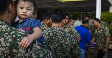 Soldiers are among the early voters at the Port Dickson by-election.