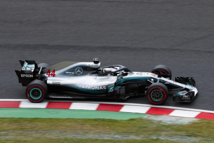 Lewis Hamilton was fastest in Suzuka during practice for the Japanese Grand Prix.