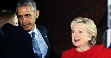 Barak Obama and Hillary Clinton