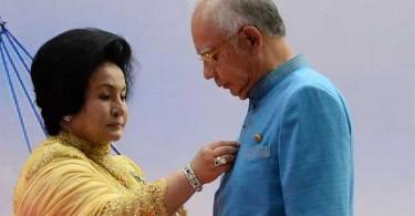 Datuk Seri Najib Razak and Datuk Seri Rosmah Mansor.