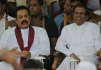 Rajapaksa (left) with Sirisena.