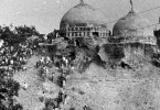 A Hindu mob tore down the Babri Mosque at the religious disputed site in 1992.