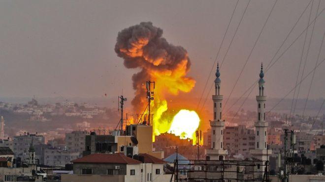 gaza bombardment