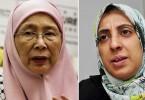 Datuk Seri Dr Wan Azizah and Latheefah Koya