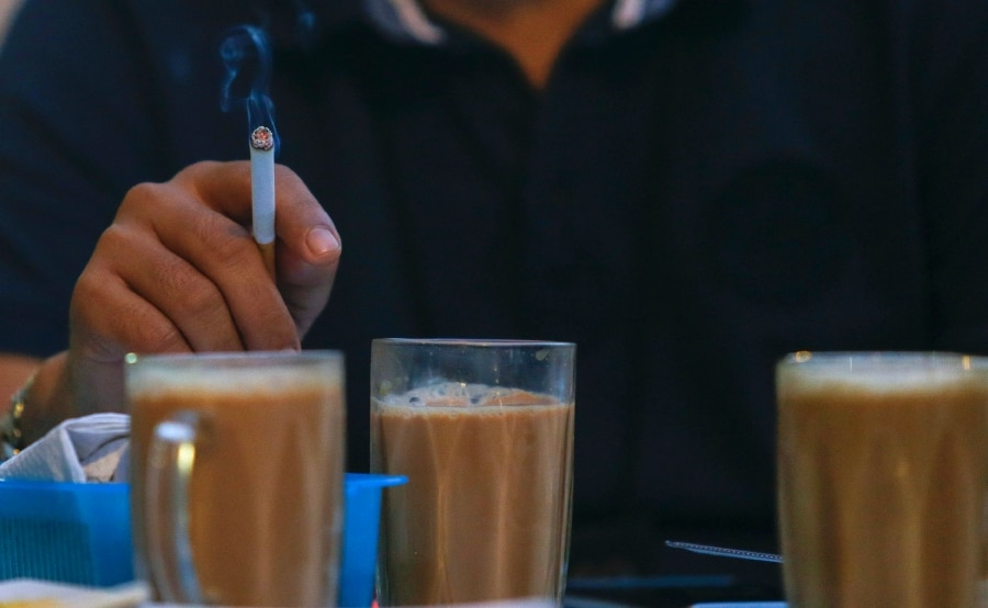 Have your teh tarik by all means but from January you will have to do it without the cigarette in your hand.