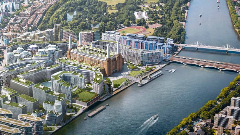 The redevelopment of the Battersea power plant.