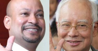 Arul Kanda Kandasamy and Datuk Seri Najib Razak.