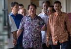 Datuk Seri Tengku Adnan Tengku Mansor entering the court today.