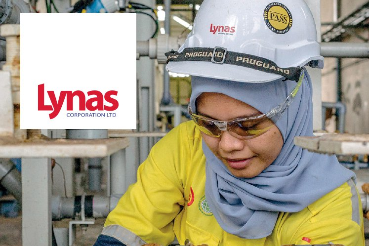 An employee at work in Lynas' processing plant in Gebeng, Kuantan