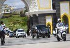 The Malay Rulers leaving Istana Negara after a meeting December 7, 2019.
