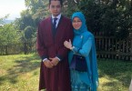 Tunku Azizah Aminah Maimunah Iskandariah and her son Tengku Hassanal Ibrahim Alam Shah during his graduation ceremony at  University of Geneva, Switzerland in July, last year.