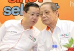 Lim Guan Eng and his father Lim Kit Siang.