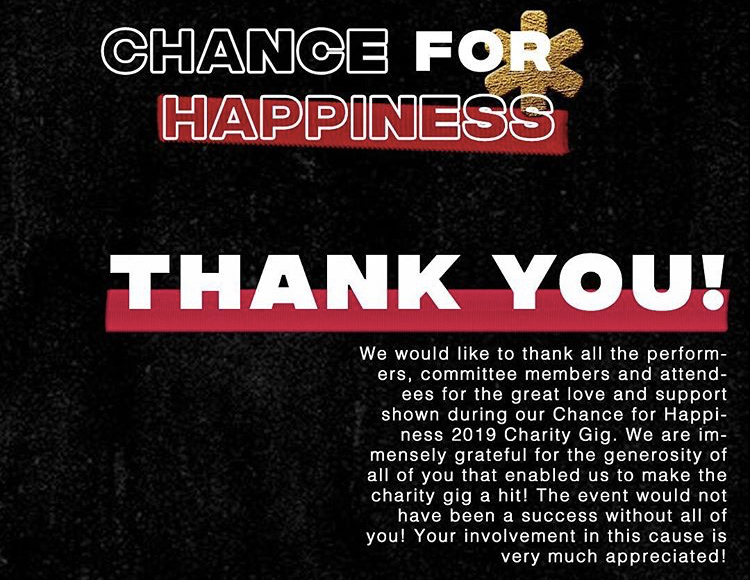 Chance for Happiness 2019