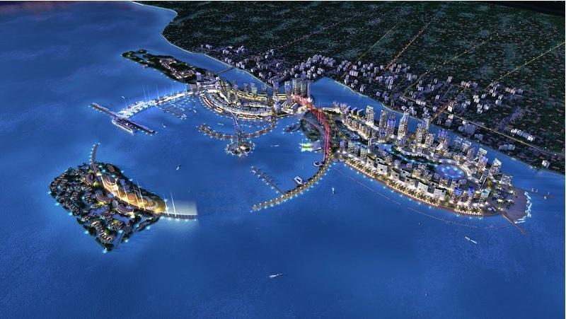 Artist's impression of Melaka Gateway project.