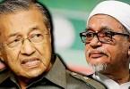 Tun Dr Mahathir Mohamad and Datuk Seri Abdul Hadi Awang