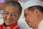 Tun Dr Mahathir Mohamad and Mohamad Sabu