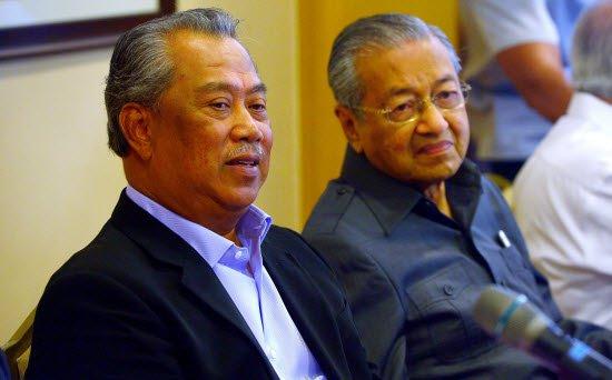 Tan Sri Muhyiddin Yassin and Tun Dr Mahathir Mohamad