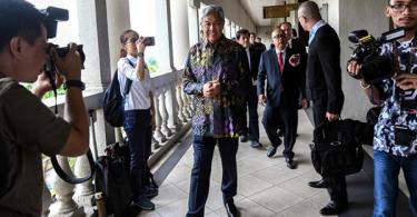 Datuk Seri Ahmad Zahid Hamidi at the court today