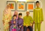 Muhammad Haziq Mohd Tarmizi in a family photo.