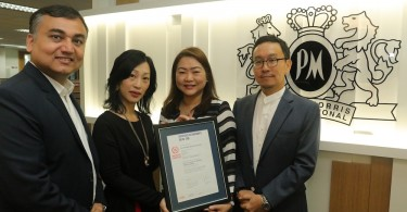 From left to right: Chinmay Sharma, Director People & Culture, Amba Chan, Director of Finance, Veronica Choo, Head of Corporate Communications and Kang Tae Koo, Managing Director, Philip Morris (Malaysia) Sdn Bhd displaying the Equal Salary certificate for Philip Morris (Malaysia) Sdn Bhd by the independent, not-for- profit Swiss-based Equal Salary Foundation.