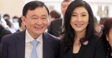 Thaksin and younger sister Yingluck. His influence remains strong in Thai politics despite living in exile, with the Pheu Thai party linked to him winning the most seats so far in last Sunday's election.
