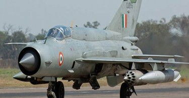 An Indian MIG21 similar to the one shot down over Pakistan.