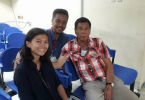 Journalist Pia Ranada with then presidential candidate Rodrigo Duterte during the election campaign in 2016.